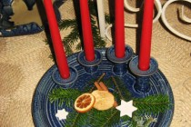 Adventsteller blau